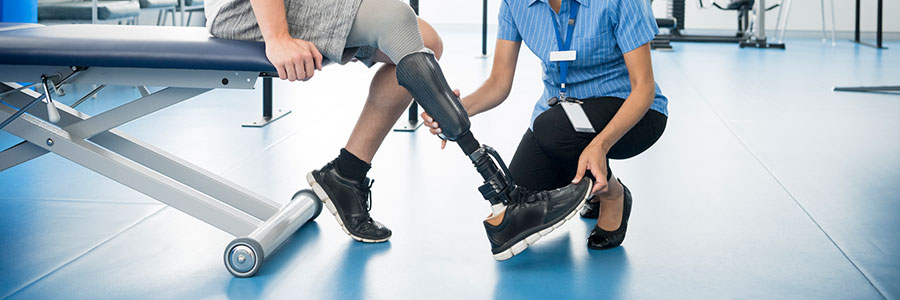 Are prosthetics for work-related amputation covered by workers' compensation?